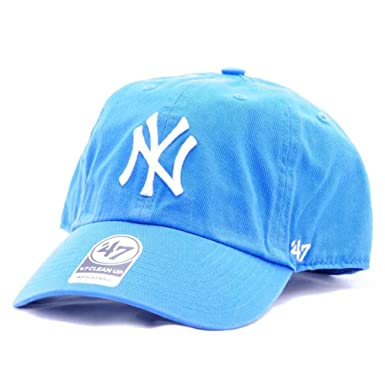 62953860d 47 Brand Cap - Mlb New York Yankees Clean Up Curved V Relax Fit blue ...