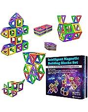 Desire Deluxe Magnetiska byggstenar 40 st byggleksaksset för barnspel | STEM kreativitet pedagogiska magneter leksaksblock för pojkar flickor ålder 3 4 5 6 7 år gammal