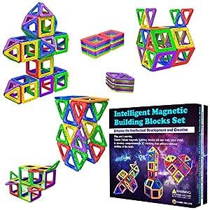 Blocs de Construction Magnétiques – Cadeaux de pour Les Enfants – Blocs de constructions aimantés – Jeux pour garçons et…