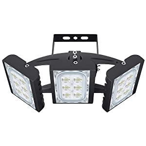 LED Flood Light, STASUN 90W 8100lm Security Lights with 330°Wide Lighting Area, OSRAM LED Chips, 6000K Daylight, Adjustable Heads, IP66 Waterproof Outdoor Floodlight for Yard, Garden, Garage
