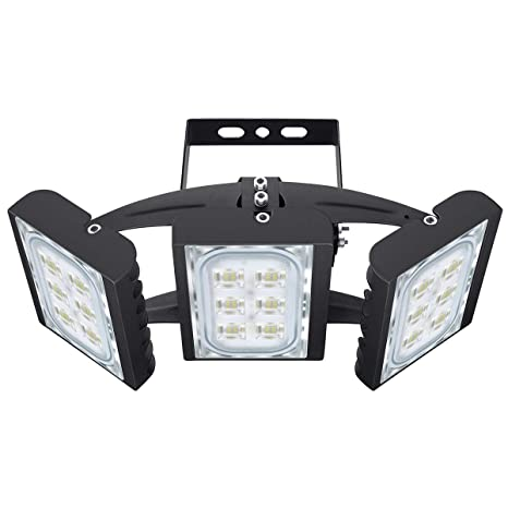 Led Flood Light Stasun 90w 8100lm Security Lights With 330 Wide Lighting Area Osram Led Chips 6000k Daylight Adjustable Heads Ip66 Waterproof