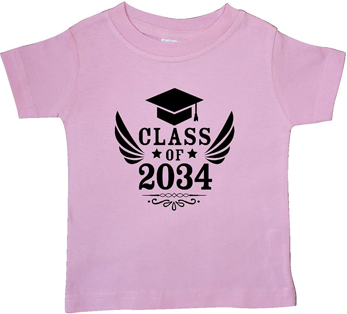 inktastic Class of 2034 with Graduation Cap and Wings Baby T-Shirt