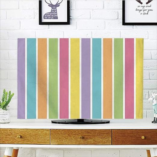 iPrint - Cubierta antipolvo para televisor LCD, colorida, multicolor, diseño de lunares tradicionales, con ilustraciones de muchos tamaños, diseño de circuitos, multicolor, diseño de impresión 3D compatible con televisores de 32 pulgadas:
