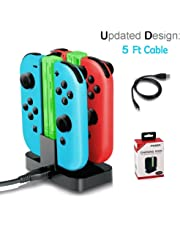 LILY Joy-Con Controllers Ladestation Dock Station Gamepad Power Ladegerät für Nintendo Switch Joy-Con , LED-Ladeanzeige