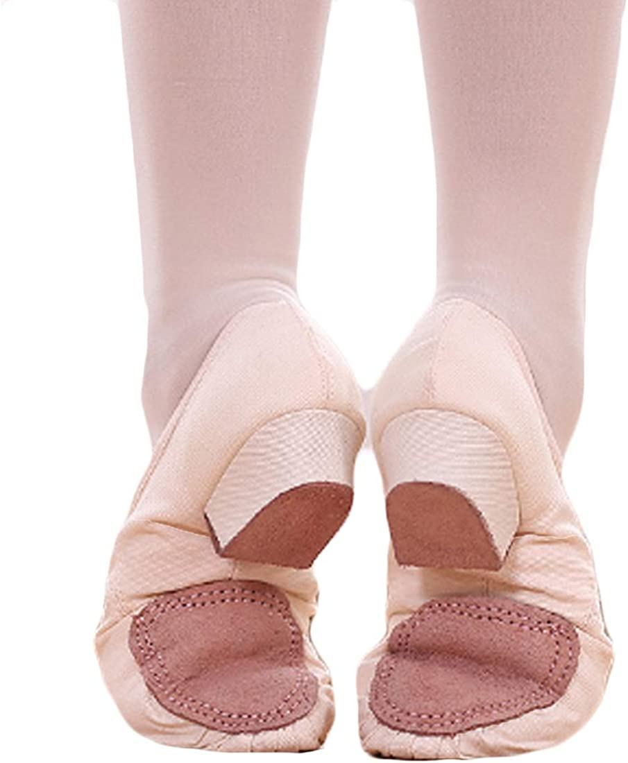 DAIYO Womens Soft Canvas Ballet Shoes Non-Slip Bottom Latin Dance Practice Low-Heeled Shoes