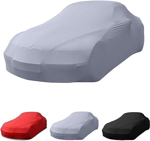 Porsche Passend Stretch Soft Cover Indoor Autoplane Autoabdeckung Auto Car Cover Abdeckplane Schmutzabweisend Autogarage Staubdicht Extrem Atmungsaktiv Autodecke Grau Auto
