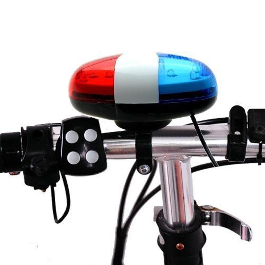 Vovotrade® 6 LED 4 Sonidos Timbre de Campana Luz del Coche Policía Brillante Advertencia Ligero