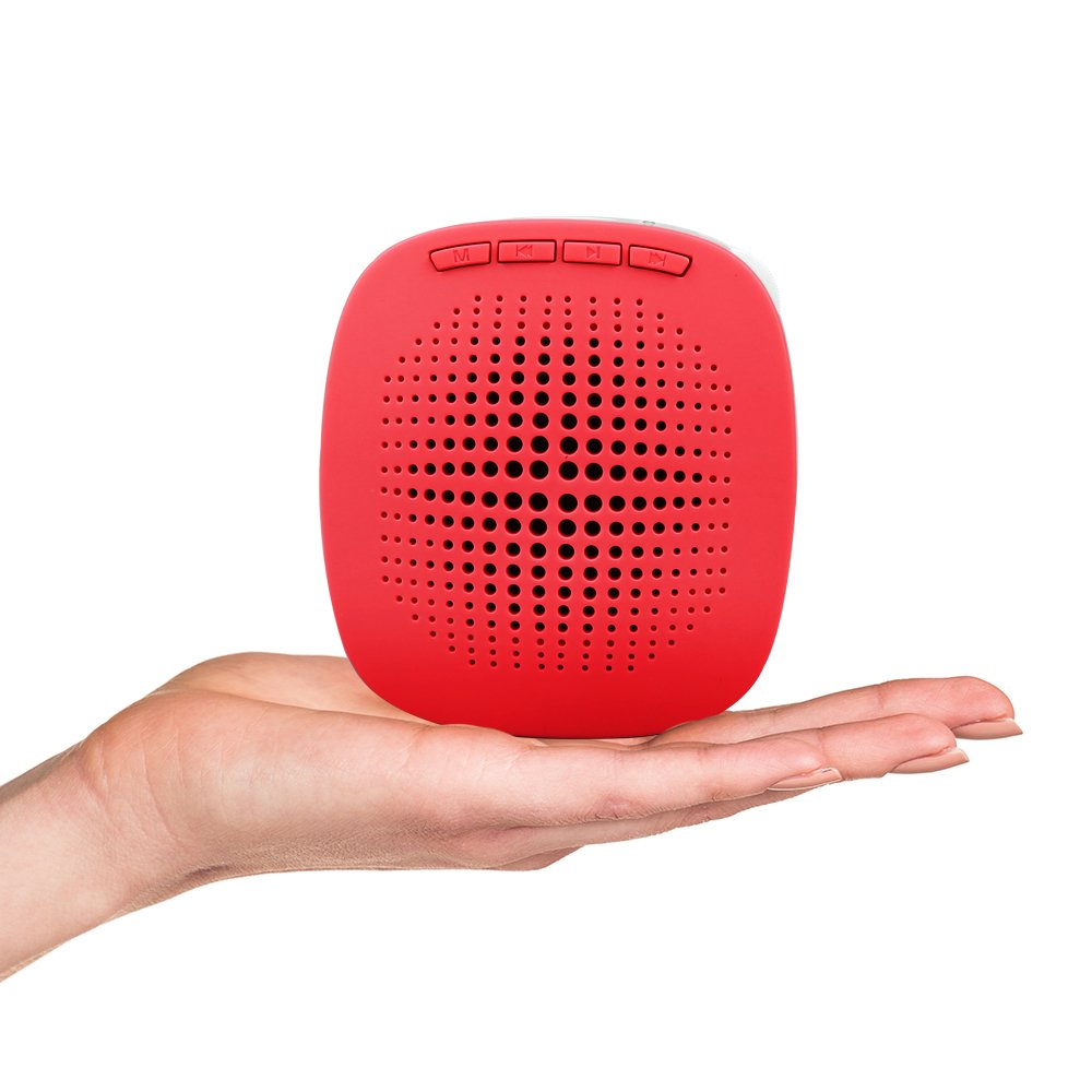 XB-600 Voice Amplifier, Color Options, Mini Rechargeable PA system with multifunction, Supports MP3 Format Audio and SD Card good for Teaching, Speech, Conference, Church, Promotion, Business (Red)