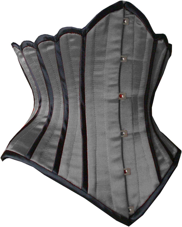Faneca Fashion Steel Boned Underbust Corset Waist Trainer Satin Corset Bustier Corset