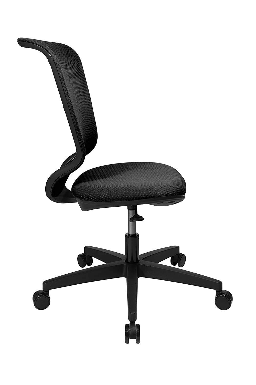 Topstar X-Pander Junior, ergonomisk barnstol, skrivbordsstol, tyg, rosa svart