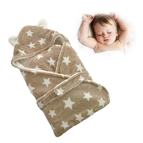 Bloomma Bebé recién nacido envoltura de manta para bebés, niños gruesos niños pequeños Suave y