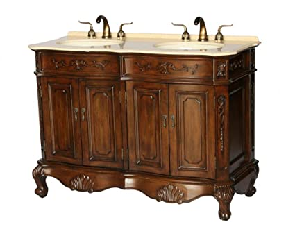 50 Inch Antique Style Double Sink Bathroom Vanity Model 5000 BE