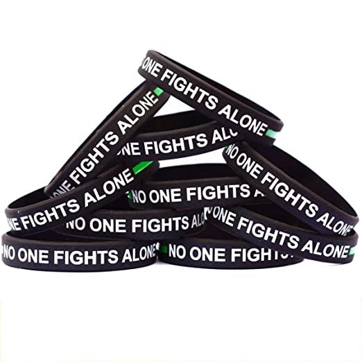 Amazon com : SayitBands 10 of Thin Green Line No One Fights