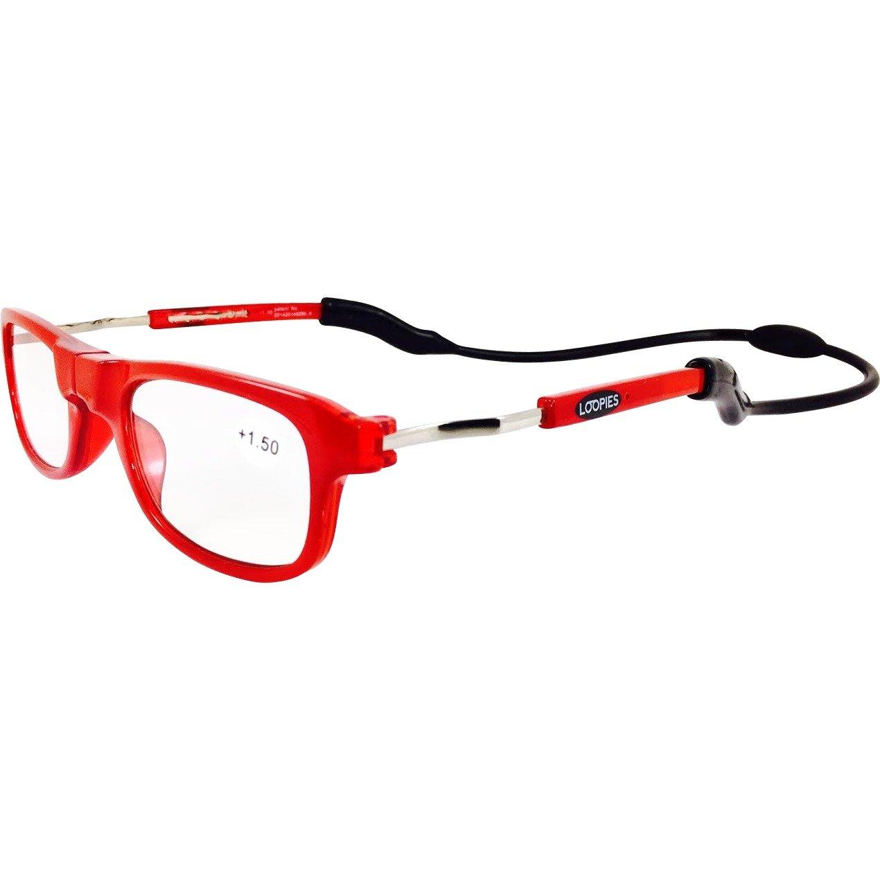 Loopies alta qualità magnetico lettura occhiali. Unisex, regolabile, e confortevole