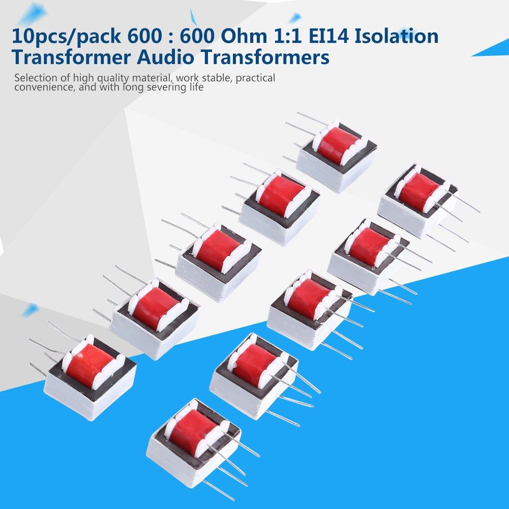 10pcs/pack 600: 600 Ohmios Transformadores de Audio del EI14 1: 1 Transformador de Aislamiento: Amazon.es: Bricolaje y herramientas