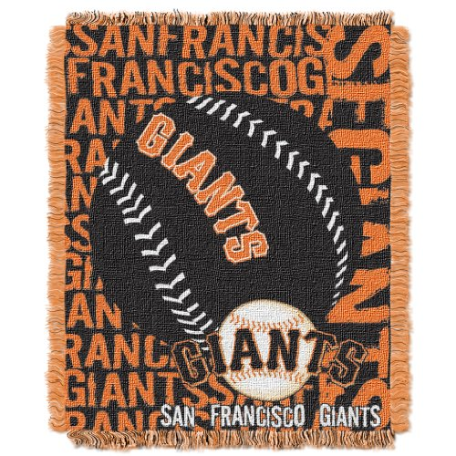 (The Northwest Company MLB San Francisco Giants Double Play Jacquard Throw, 48