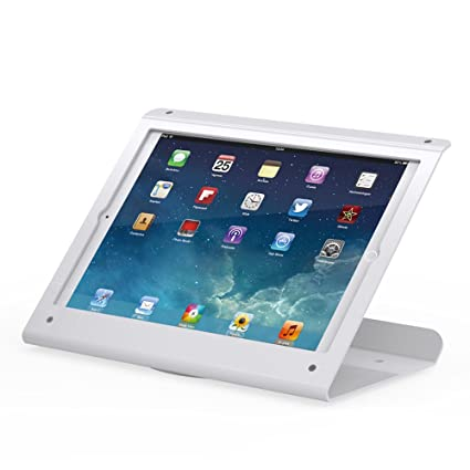 Retail iPad Security Stand - 360 Swivel Base, for iPad Pro 12 9 2015 and  2017, Anti Theft, White, BSC102WP - Beelta