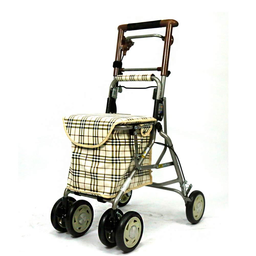 LOO LA Ruedas 2 En 1 Andador para Ancianos Y Silla De Cuatro ...