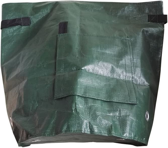 JDWNF 2 Pack High Capacity 10 Gallon Potato Grow Bags, Garden Aeration Fabric Planting Bag with Handles and Access Flap for Carrot Tomato Onion
