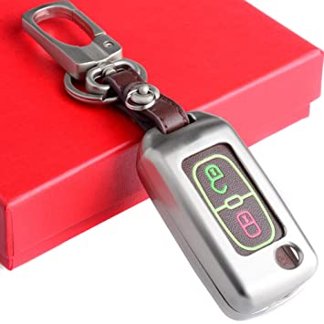Semoss Accesorios Coche Tuning 2 Botones Funda Llave Carcasa para Peugeot 107 207 307 308 407 607 Citroen C2 C3 C4 C5 C6 C8 con Llavero y Caja de ...