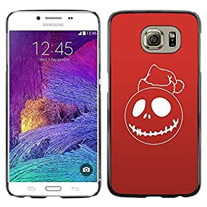 Be Good Phone Accessory // Dura Cáscara cubierta Protectora Caso Carcasa Funda de Protección para Samsung Galaxy S6 SM-G920 // Red Christmas Ghost