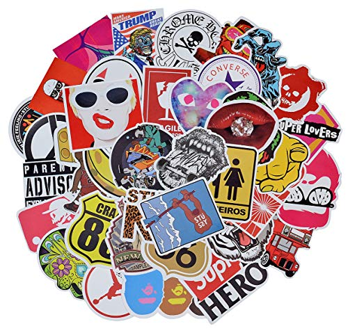 (100 Pieces Waterproof Vinyl Stickers for Personalize Laptop, Car, Helmet, Skateboard, Luggage Graffiti Decals (I - section))