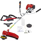 NEW TRUESHOPPING® PROFESSIONAL 62CC PETROL GRASS STRIMMER BRUSHCUTTER POWERFUL HEAVY DUTY SPLIT SHAFT MODEL 2-STROKE 2.6KW / 3.5HP WITH FREE HARNESS