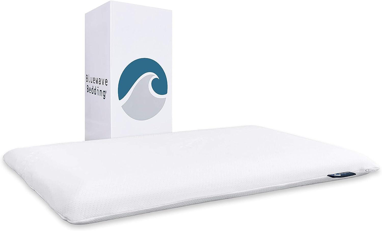 Bluewave Bedding - Almohadas de espuma viscoelástica, finas, ultrafinas y con gel