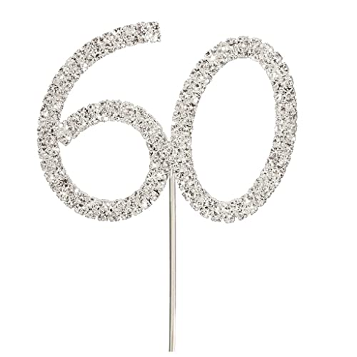 Nuolux Cake Topper Birthday For 60th Wedding Anniversary Color