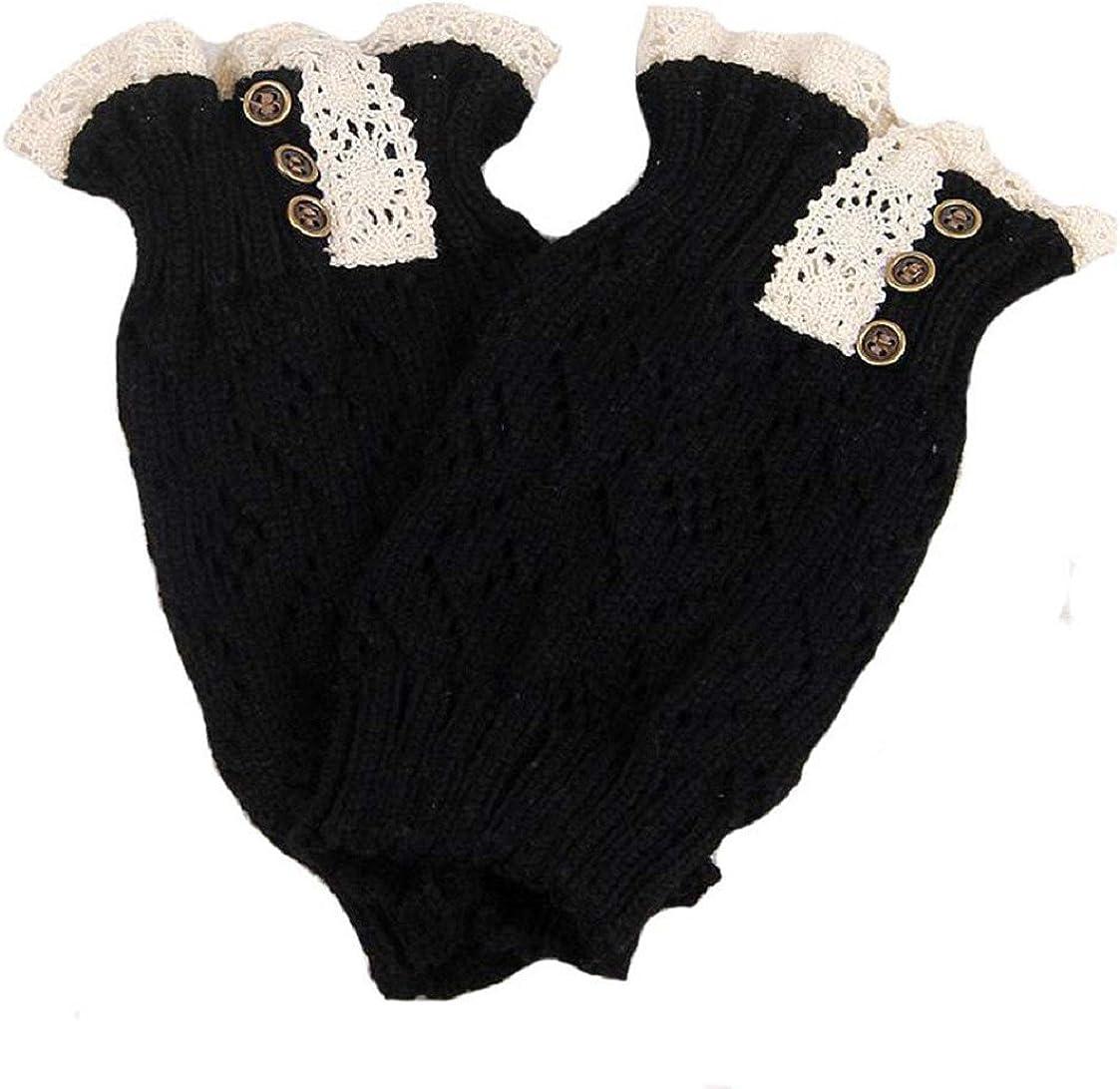 Vovotrade/®/®/® ❤❤ Popul/äre Frauen-Spitze-Ausdehnungs-Stiefel-Bein-Stulpen-Stiefel-Socken