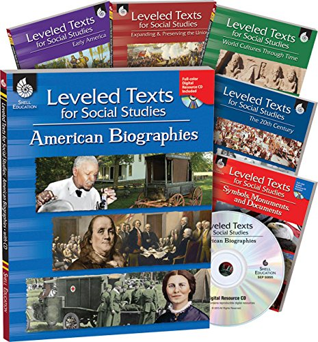 Leveled Texts for Social Studies: 6-Book Set from Shell Education