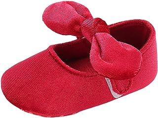 Moonuy Toddler Filles Chaussures Unisexe Bébé Bow Chaussures Douces Nouveau-nés Enfants Princesse Fond Doux Bébé Chaussures Enfants Toddler Chaussures pour 0-18 Mois
