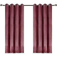 Dimaka Window Curtain, Blackout Darkening Fabric Curtain