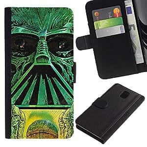 LECELL--Cuero de la tarjeta la carpeta del tirón Smartphone Slots Protección Holder For Samsung Galaxy Note 3 III -- Estrella Galaxy Troopers --
