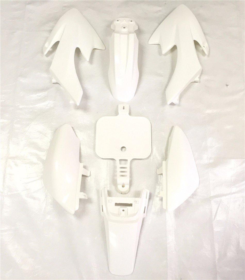white Plastic Body Work Fairing Kit for Honda XR50 CRF 50 125cc Pit Bike TTMT