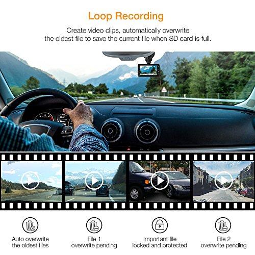 Enregistrement en Boucle Cam/éra de Voiture iGOKU 1080P Full HD 3.0 Dash Cam Cam/éra Embarqu/ée de Voiture avec Grand Angle 170/°/Enregistreurs DVR Vid/éo 24 heures de surveillance Capteur-G