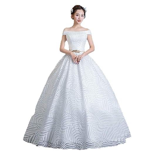 Vestidos de novia Mujeres fuera del hombro vestido de fiesta ...