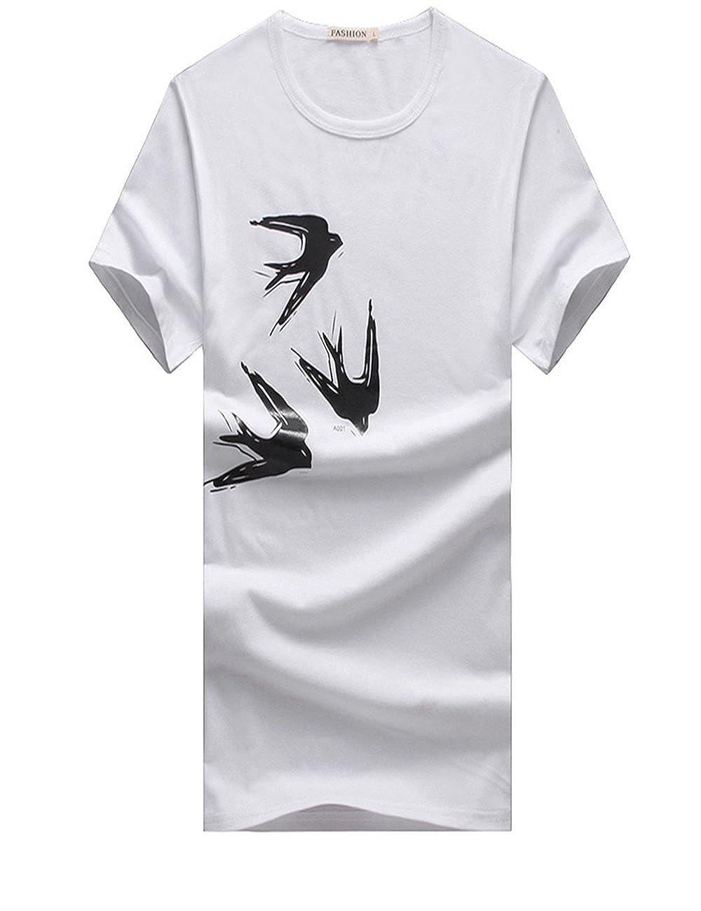 e668b50af4 Menschwear Mens T-Shirt Short Sleeve Shirts (XXXL,White): Amazon.co.uk:  Clothing