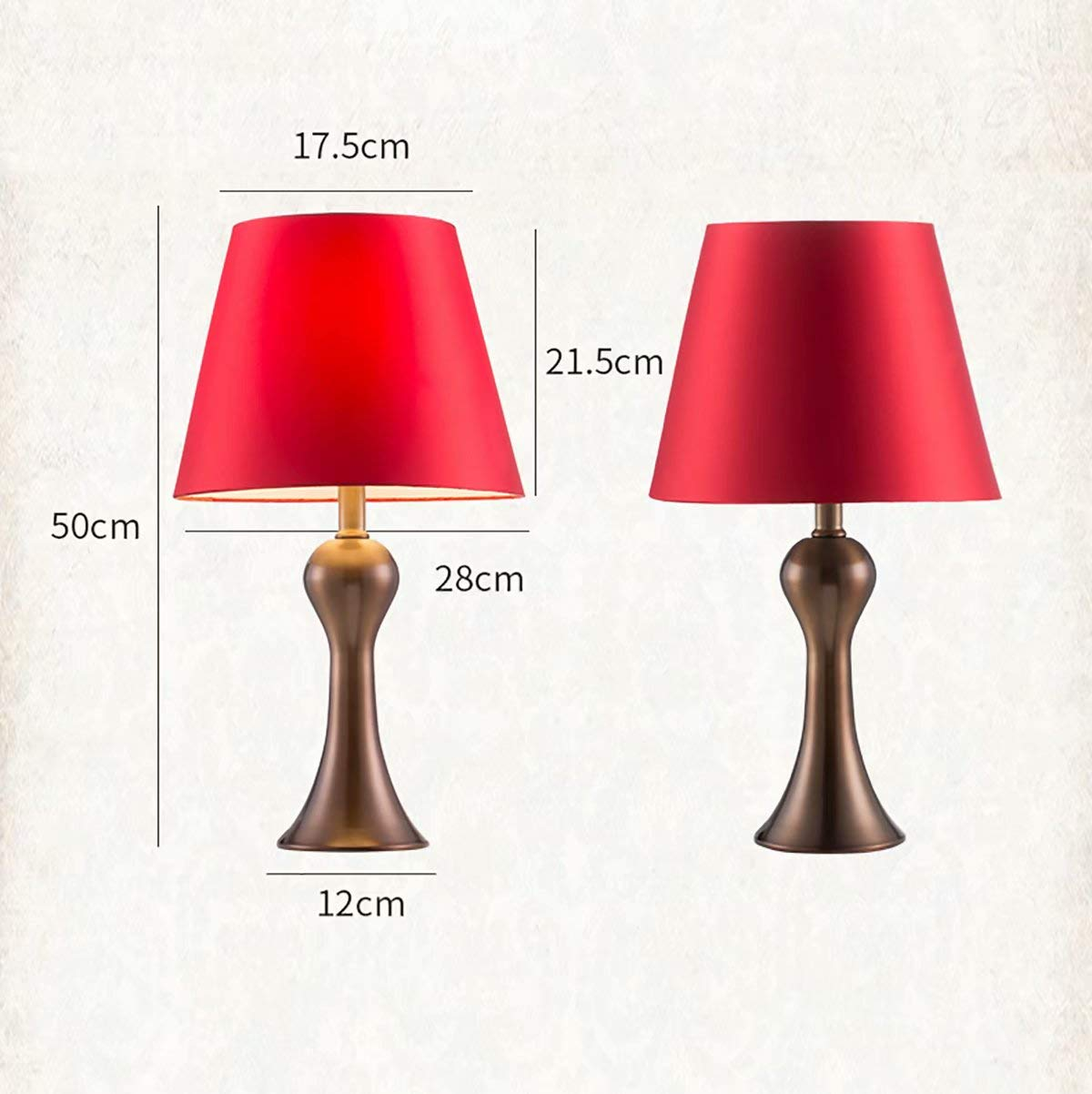 Red Wedding Table Lamp Bedroom Bedside Lamp Creative ...
