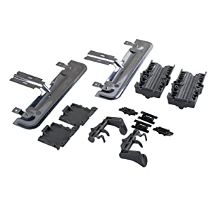Poweka W10712394 Dishwasher Rack Adjuster Replacement Kit Compatible with Whirlpool KitchenAid Dishwasher Part Number W10253546 AP5956100 W10350376- Fits KUDS30FXSS3 KUDS30IXBL8