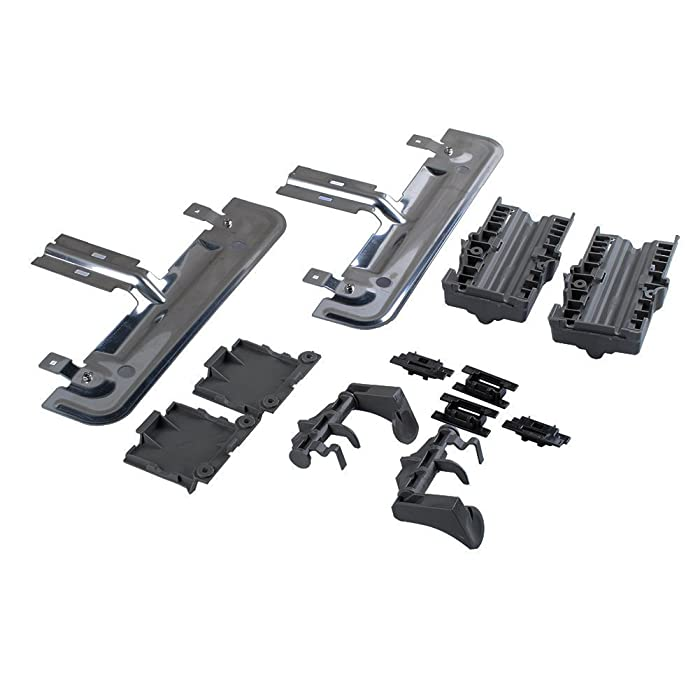Poweka W10712394 Dishwasher Rack Adjuster Replacement Kit Compatible with Whirlpool KitchenAid Dishwasher Part Number W10253546 AP5956100 W10350376- Fits KUDS30FXSS3 KUDS30IXBL8