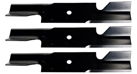 USA Mower Blades U11185BP (3) Extra High-Lift for Simplicity 5021227ASM  Scag 482878 A48108 Length 18in  Width 3in  Thickness  200in  Center Hole