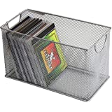 Ybm Home Mesh Storage Cd Box Deep, Silver Mesh Great for School Home or Office Supplies, Books , Computer Discs Cd's and More 1134 (1, Cd Box-11 X 5.7 X 6.3 Inches)