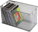 Ybm Home Mesh Storage Cd Box Deep, Silver Mesh Great for School Home or Office Supplies, Books, Computer Discs Cd's and More 1134 (1, Cd Box-11 X 5.7 X 6.3 Inches)