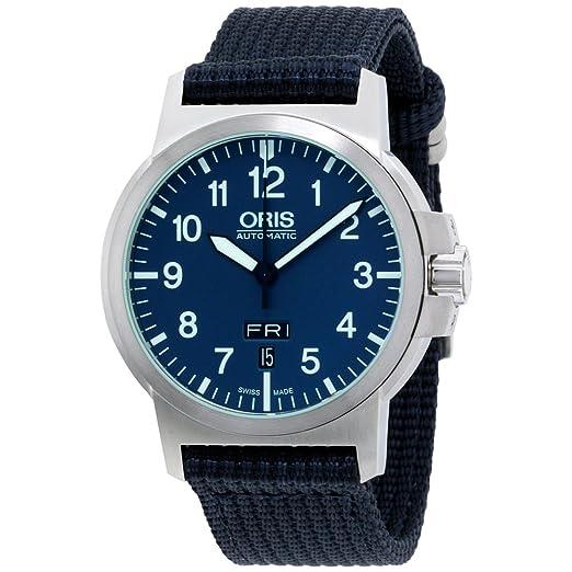 Oris – Reloj de pulsera esfera azul, nailon 73576414165tsnvyxg (Certificado Reformado)