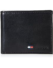Tommy Hilfiger Billetera de piel para hombre con bolsillo para monedas