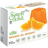 Simply Delish Dessert Jel, Orange, 1.6 Ounce (Pack of 6)