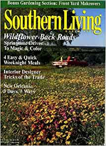 Southern living march 1999 wildflower back roads Southern living garden book
