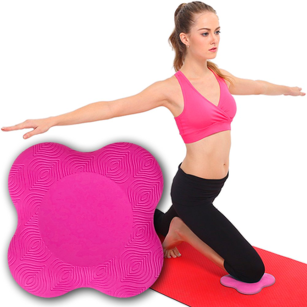 My Way Fitness Yoga Knee Pad by MWF Works Best with Your Yoga Mat – Kneeling Support for Yoga Pilates Exercise Thick Yoga Knee Pads Cushion for Your Knees, Elbow and Head – ONE Piece