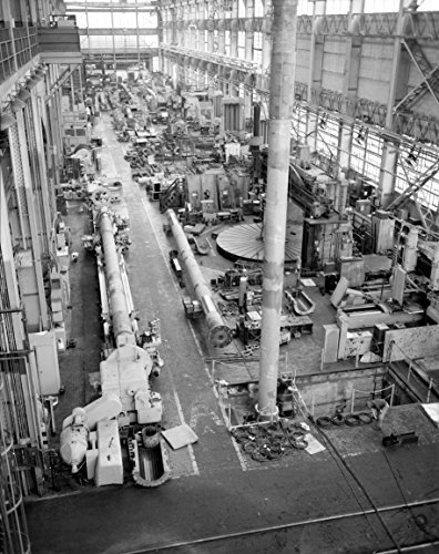 Home Comforts Interior of Building 16 Section of The Philadelphia Naval Shipyard, Machine Shops, League Island, Ph Vivid Imagery Laminated Poster Print 24 x 36